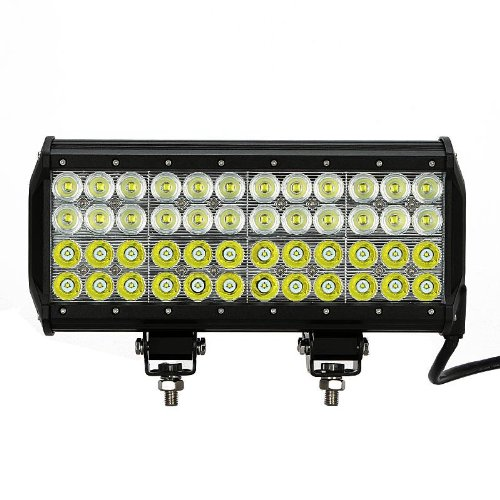 "13.5"" 144W Led Light Bar 10080Lm~14400Lm 48X3W Cree Led Ip67 24V 12V Truck Suv Van Camper Wagon Car Pickup Off-Road Pencil Beam 30 Flood Beam 60 Degree Driving Work Light"