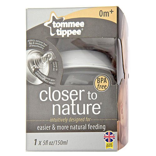 Tommee Tippee 1-Pack Closer to Nature Bottle 5 oz.