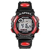 Bestpriceam TM Red Multifunction Man Digital LED Quartz Alarm Date Sport Waterproof Watch