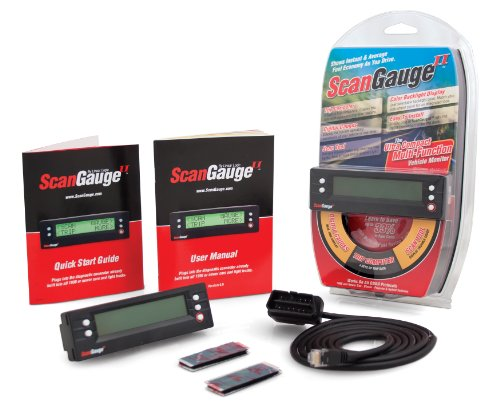 ScanGauge II Ultra Compact 3-in-1 Automotive Computer with Customizable Real-Time Fuel Economy Digital Gauges