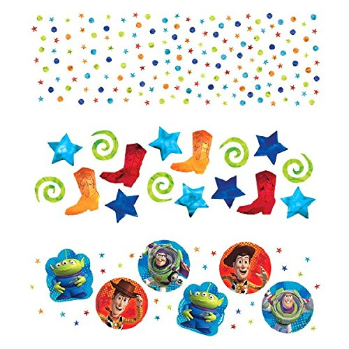 Amscan Toy Story Power Up Birthday Party Confetti Decoration, 1.2 oz, Multicolor