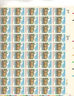 Rhode Island Sheet of 50 x 25 Cent US Postage Stamps NEW Scot 2348