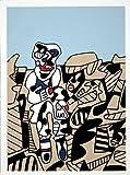 Rare Posters Prints, Jean Dubuffet-Simulacra's 1974 Serigraph