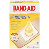 Band-Aid Adhesive Bandages Plus Antibiotic Extra Large - 8 Count