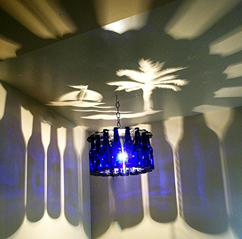 Palm Tree Shadow Bottle Chandelier front-187606