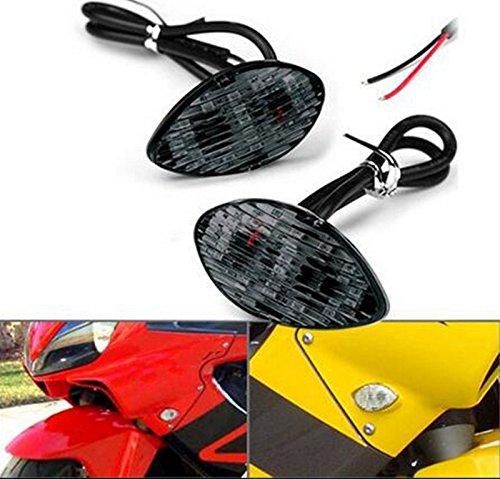 2x Amber LED Smoke Flush Mount Turn Signal Blinker Light For Honda CBR 600RR 600F4i 954RR 1000RR 2003-2011 (Honda Cbr 2003 compare prices)