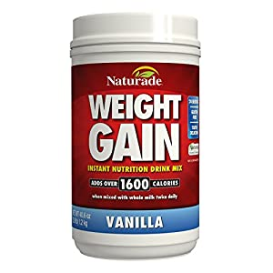 Naturade Weight Gain Instant Nutrition Drink Mix, Vanilla, 40.6 Ounce