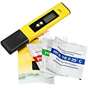 New LCD Pocket Digital Ph Meter Tester Hydroponics Pen Aquarium Pool Water Test Type1 Yellow