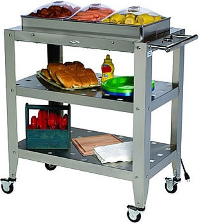 Cheap Triple Buffet Warming Cart with 3 Individual Lids WBC3SP (B008N7WHAS)