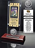 "NFL New England Patriots Super Bowl 38 Ticket & Game Coin Collection, 12"" x 2"" x 5"", Black"
