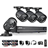 [Crazy Deals] Sannce 8CH Security Camera System Full 960H DVR/1080P Onvif NVR with 4x 800TVL Superior Night Vision IR Cut Leds Outdoor CCTV Camera ( HDMI/VGA/BNC Output, Weatherproof Housing, P2P Technology/E-Cloud Service, Smartphone QR Code Scan Quick Access, PC Easy Remote Access, No HDD)