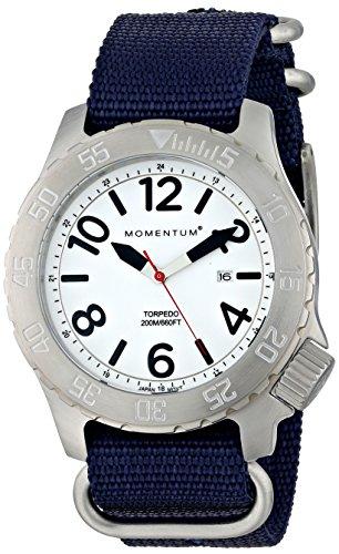 Momentum  1M-DV74L7U - Reloj de cuarzo para hombre, con correa de nailon, color azul