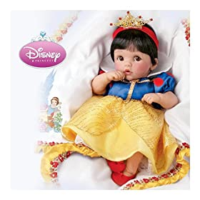 Lifelike Moving Baby Doll Wearing Disney Princess Character Dress: Always Dreams by The Ashton-Drake