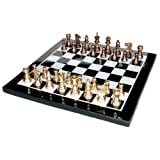 "15"" X 15″ Collectible Marble Chess Game Board Set Brass Crafted Pieces (Delivery < 7 Days)"