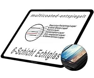 GGS LARMOR LCD Displayschutz Glas für Sony Alpha 7 / A7 - LCD-Echtglas-Protektor - 6-Schicht-Prinzip plus Schutzrahmen