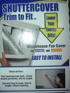 Whole House Fan Shutter Cover Seal - Trim To Fit