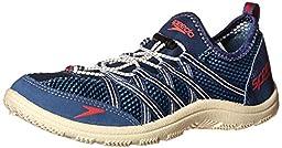 Speedo Men\'s Seaside Lace 4.0 Water Shoe, Blue/White, 14 M US