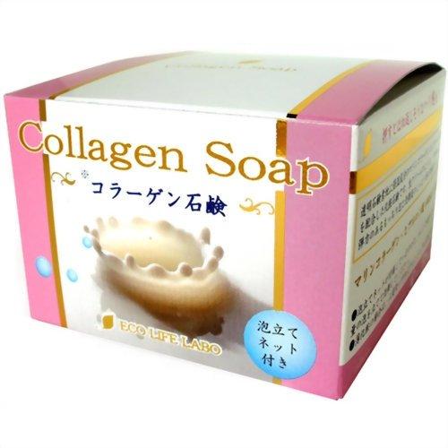 コラーゲン石鹸 80g:エコライフラボ