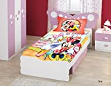 Bombay Dyeing Disney Classic Single Bedsheet with 1 Pillow Cover - Red and Pink