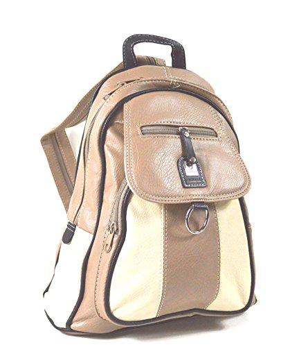 Leder Rucksack Damentasche Reise Tasche Phoenix Collection in dunkel Braun !