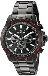 Invicta Men's 20341SYB Speedway Analog Display Swiss Quartz Black Watch