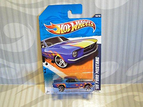 2011 Hot Wheels Heat Fleet '65 Ford Mustang - Blue - 1
