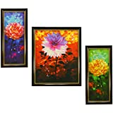 3 PIECE SET OF FRAMED WALL HANGING