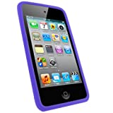 Fosmon Purple Gel Silicone Protective Case Cover for Apple iPod Touch 4th Generation - 8GB 32GB 64GB