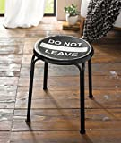 "Hocker ""Do Not Leave"" aus Metall"