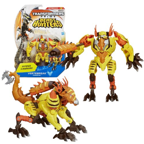 """Hasbro Year 2012 Transformers Prime """"Beast Hunters"""" Series 2 Deluxe Class 6 Inch Tall Robot Action Figure - #014 Predacon VERTEBREAK with Hyena Cannon and Missile (Beast Mode: Hyena)"""