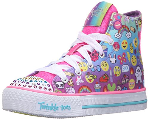 skechers-shuffles-chat-time-girls-low-top-sneakers-multicolore-mlt-multicouleur-13-child-uk-32-eu
