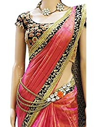 Stylefabs Designer Paper Silk Wedding Wear Saree_Orange Color