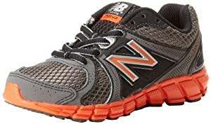 New Balance KJ750 Y Running Shoe (Little Kid/Big Kid),Grey/Orange,3 M US Little Kid
