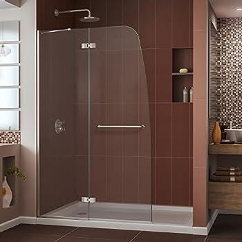 DreamLine Aqua Ultra 45 in. Width, Frameless Hinged Shower Door, 5/16