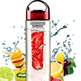 Aphse® Fruit Infuser Water Bottles Pitcher Easy Carrying Handle Featuring Water Bottle With Fruit Infusion 24 oz 800ml Perfect as Yoga infusion water pitcher for Hiking Gym Sports