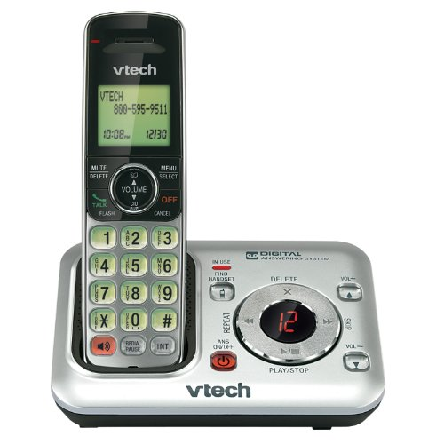 Vtech Cs6429 Dect 6.0 Cordless Answering System, Silver/Black