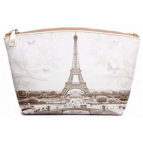 YouBag Donna Pochette Cosmetic Beauti Case Necessaire Miky Tour Eiffel Cm 25x16x10