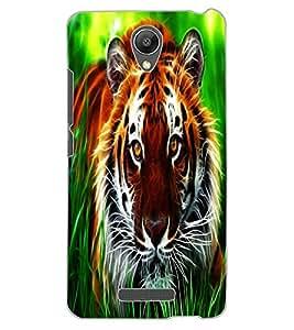 ColourCraft Tiger Look Design Back Case Cover for XIAOMI REDMI NOTE 2 PRIME