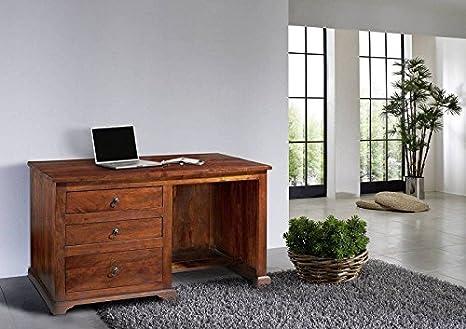 Kolonialer Schreibtisch Akazie massiv Möbel OXFORD #512
