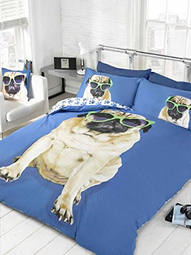 Pug in Sunglasses Comforter Set
