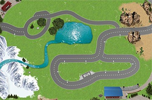 Eisenbahn / Holzeisenbahn Spielmatte (Spielteppich) für das Kinderzimmer - SM13 - Maße: ca. 150 x 100 cm