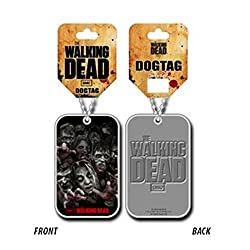 The Walking Dead Walkers Official Chrome Metal Dog Tag by The Walking Dead