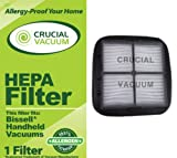 HEPA Filter plus Filter Screen Fits Bissell Hand Vac Auto-Mate Pet Hair CleanView Vacuum Models 27K6, 33A1B, 47R5A, 47R5B, 33A1, 47R5, 47R51; Replaces Bissell Part # 203-7416, 203-1432, 2037416, 2031432