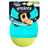 Tommee Tippee Explora Easi Roll Bib, Blue and Green, 2 Count
