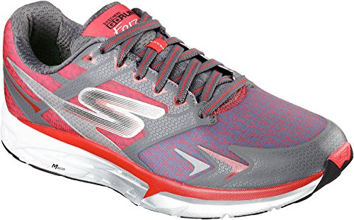 Skechers Men's Go Run Forza Running Shoes Charcoal/Red 12 D(M) US