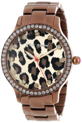 Betsey Johnson Women's BJ00157-09 Analog Leopard Pattern Dial Watch