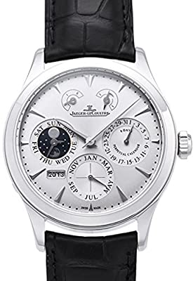 Jaeger LeCoultre Master Eight Days Perpetual Calendar Stainless Steel Mens Watch Q1618420
