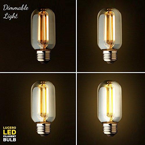 Lucero Led Filament Vintage Edison Tubular Light Bulb T45