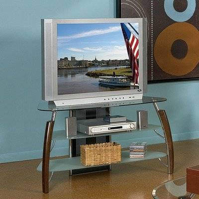 Cheap Steve Silver Atlantis TV Stand Glass Top, w/8mm (AT650TVT-VB)