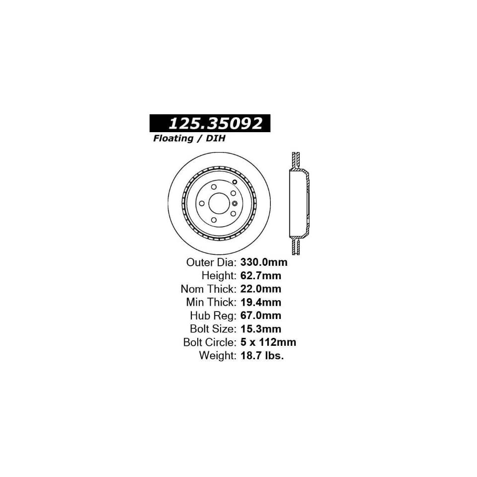Centric 125.35092 Disc Brake Rotor